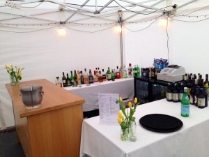 Marquee at Kirknewton Stables